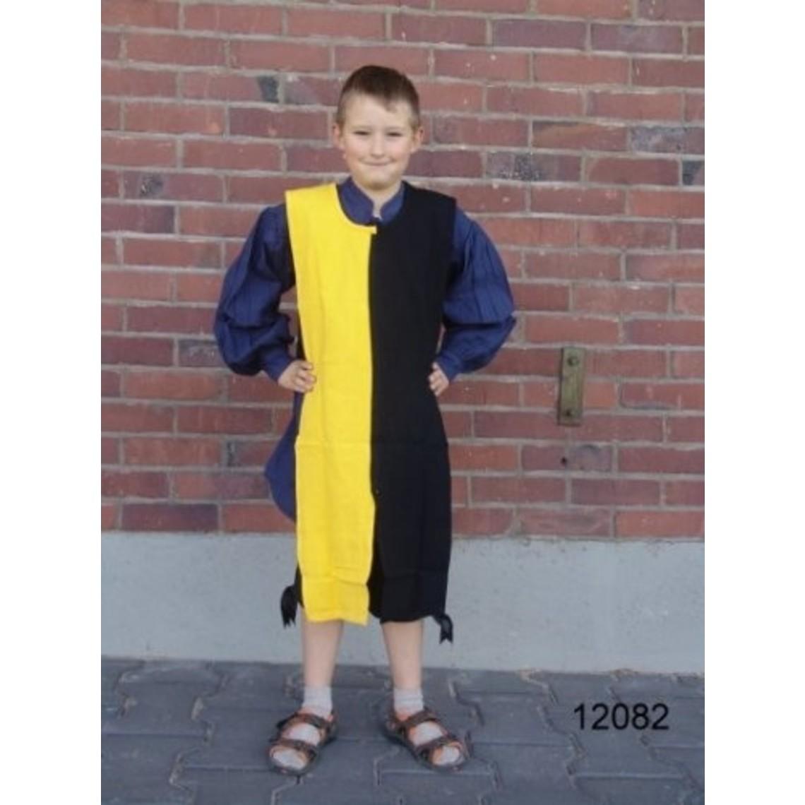 Leonardo Carbone Kinderoverkleed mi-parti wit-blauw