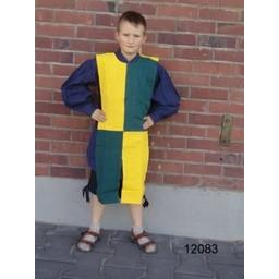Børns surcoat skakbræt grøn-hvid