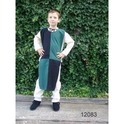 Children's surcoat chessboard green-black
