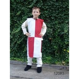 Børns surcoat skakbræt hvid-rød