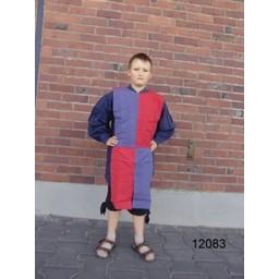 Barns surcoat schackbräde svart-blå