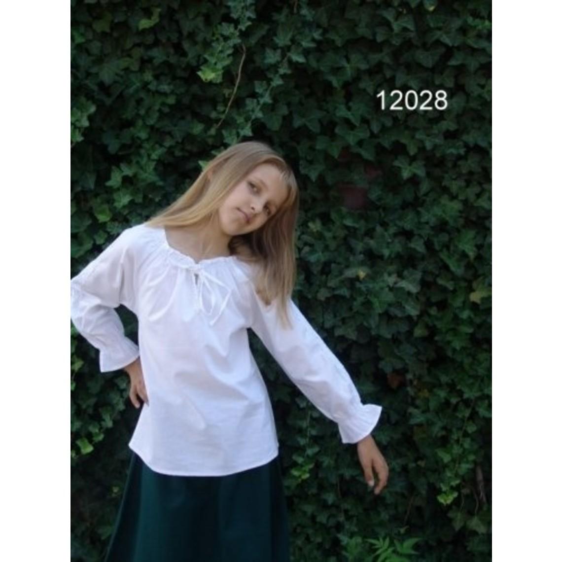 Leonardo Carbone Meisjesblouse Fleur wit