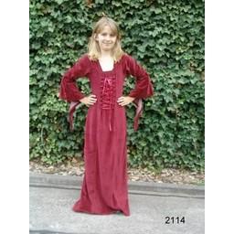Flickans klänning Aline röd