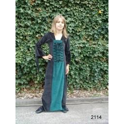 Girl's dress Aline black-red