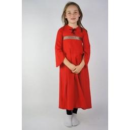 Flickans klänning Ariane röd