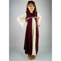 Girl's dress Ariane red-white