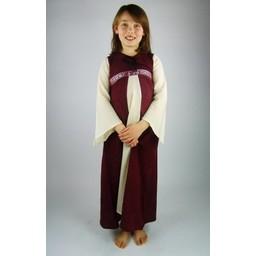 Kleid des Mädchens Ariane, weiß-rot