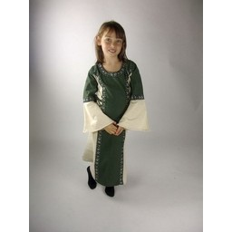 Girl's dress Cleena green-white