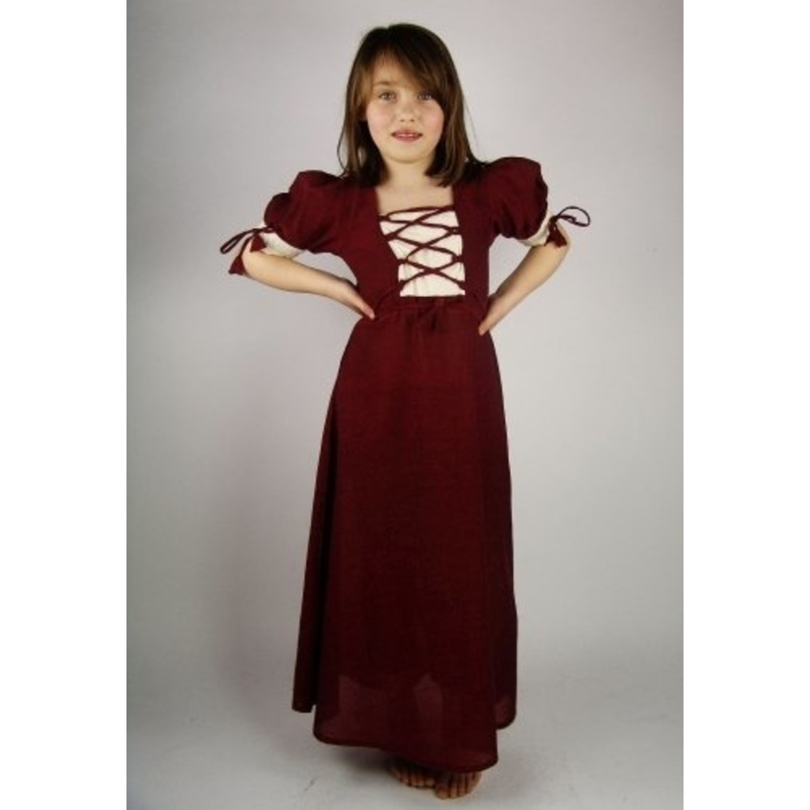 Leonardo Carbone Meisjesjurk Nina, rood