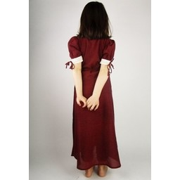 Kleid des Mädchens Nina, rot