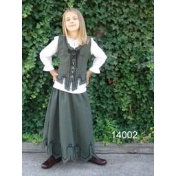 Spódnica dziewczęca Eva zielona
