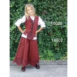 Piges nederdel Eva rød