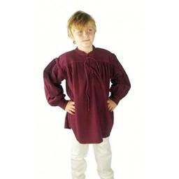 Medeltida pojkskjorta krämfärgad