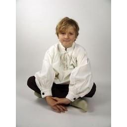 Middelalderlig drengeskjorte sort