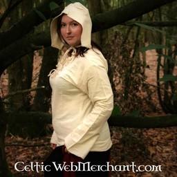 Cuffia medievale bianca