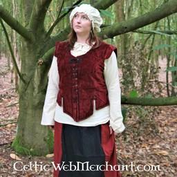 Farsetto medievale Caelia rosso