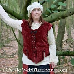 Średniowieczny dublet Caelia czerwony