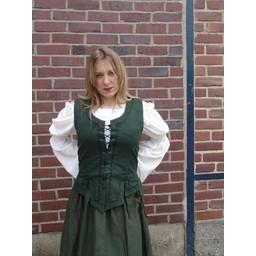 Średniowieczny dublet Christine zielony
