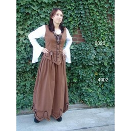 Medieval doublet Christine red