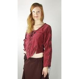 Średniowieczny dublet Grace czerwony