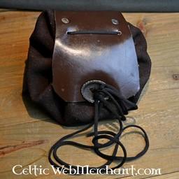 Cartera medieval burdeos-marrón