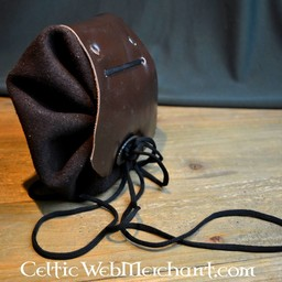Medieval pouch burgundy-brown