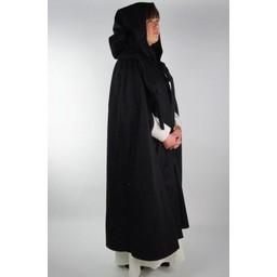 Średniowieczny płaszcz Odelia czernowy