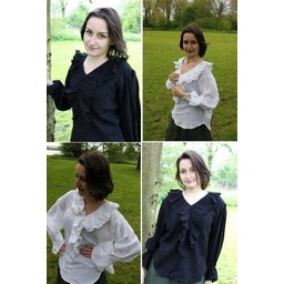 Pirat skjorte Anne hvid
