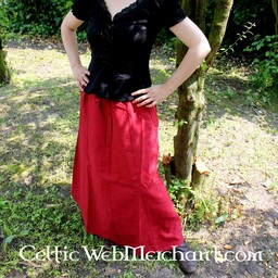 Nederdel Jutta rød