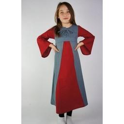Tweekleurige meisjesjurk blauw-rood