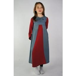 Sukienka dziewczęca dwukolorowa niebiesko-biała