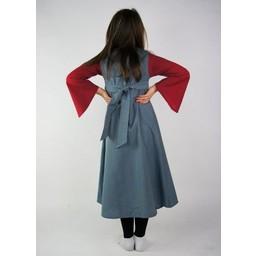 Sukienka dziewczęca dwukolorowa biało-niebieska