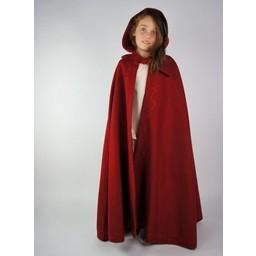 Woollen children's cloak Morgan red