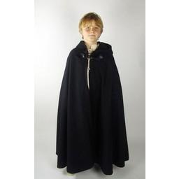 Wełniany płaszcz dziecięcy Rowan szary
