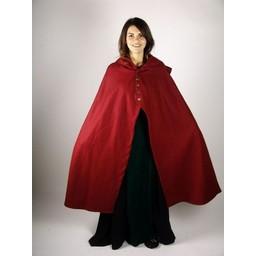 Wollen mantel Catelin rood