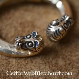 fibula pierścień z głowami zwierząt, Haithabu, brąz