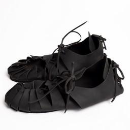 Leather Iron Age sandals black
