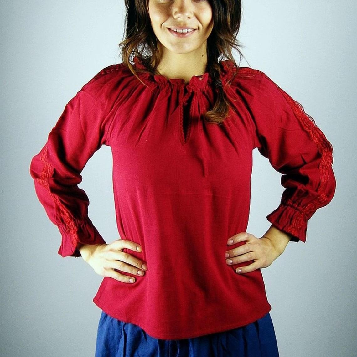 Leonardo Carbone Hemd Fleur rood