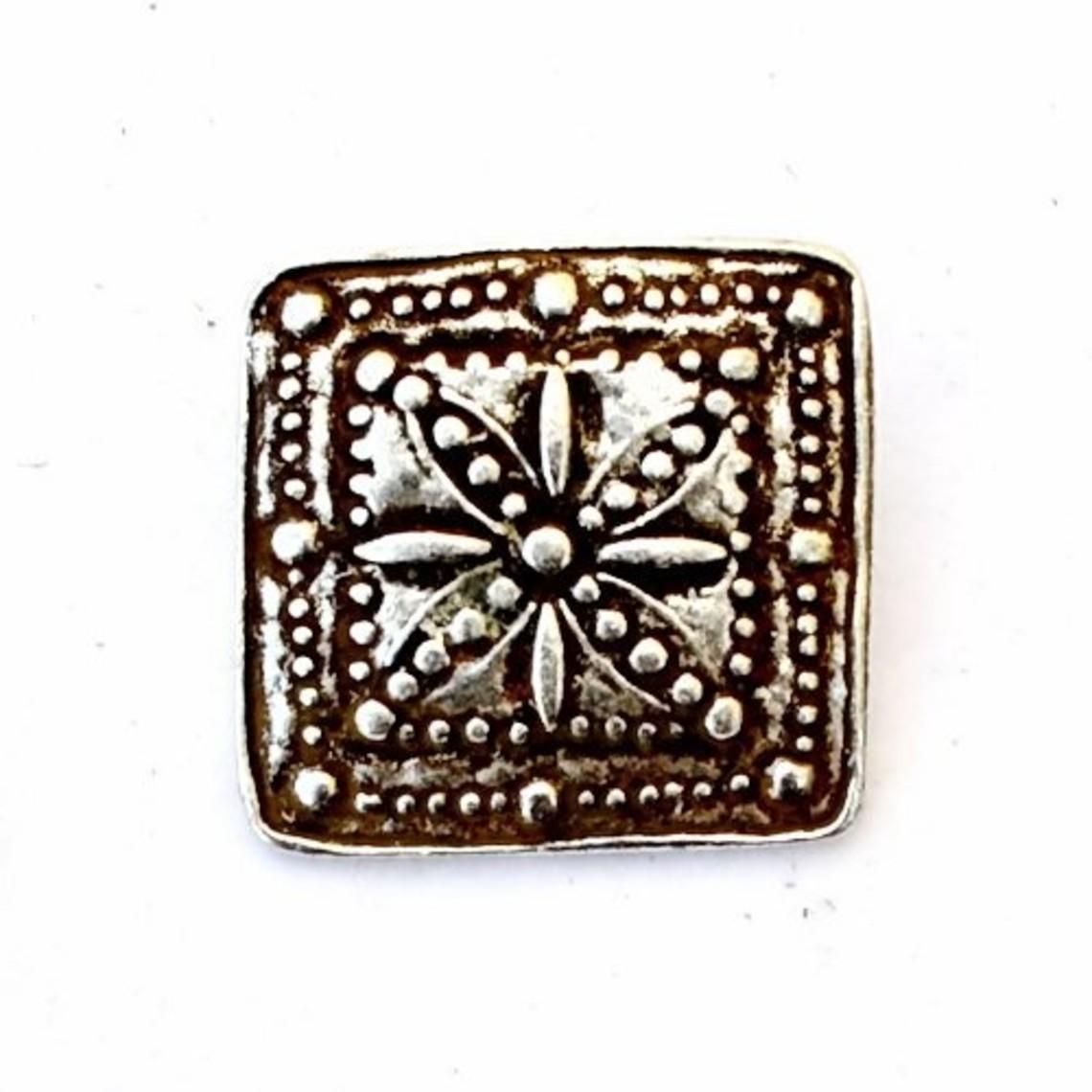 15de eeuws riembeslag bloem (set van 5 stuks), verzilverd