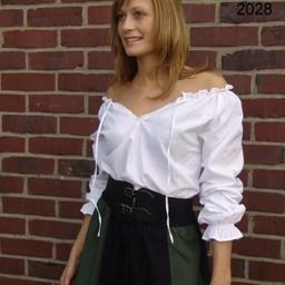 Bluzka Fleur biała