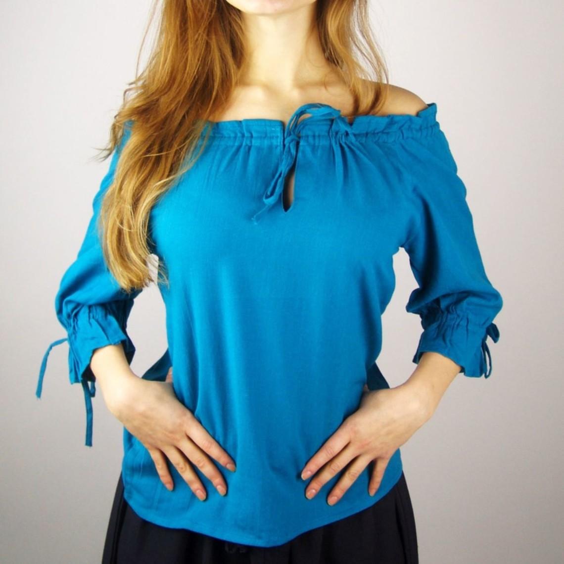 Leonardo Carbone Blouse Julia blauw