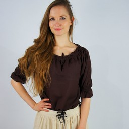 Blusa Julia marrón oscuro