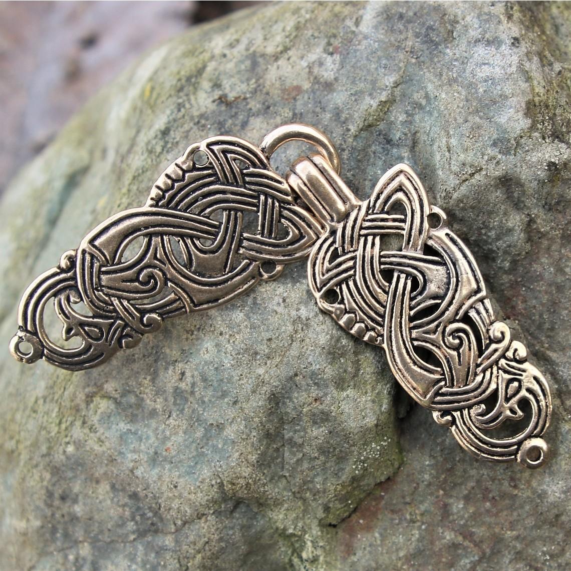 Viking mantelsluiting met draken
