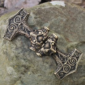 Cloak lås Thors hammer, bronze