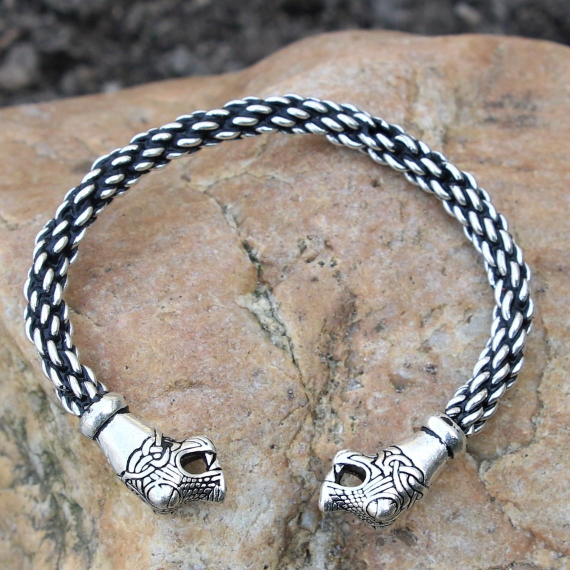 Bracelet Oseberg Viking L, argentait