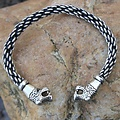 Oseberg Vikingarmband L, verzilverd
