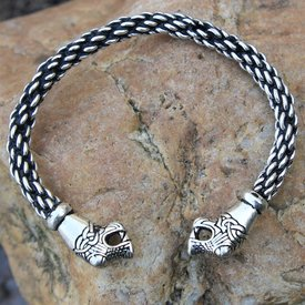 Oseberg Viking armbånd L, forsølvede