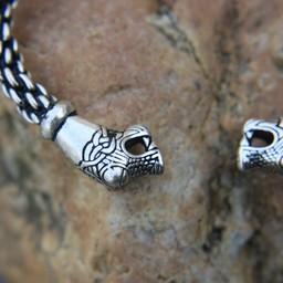 Oseberg vichingo braccialetto S, argentato