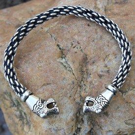 Oseberg Vikingarmband S, verzilverd