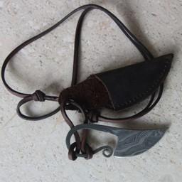 cuchillo de acero Damast cuello germánica